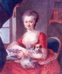 Dame et son chien de compagnie