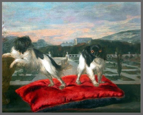 Two small dogs ,1642