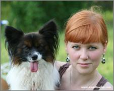 My sister Svetlana & Fisher